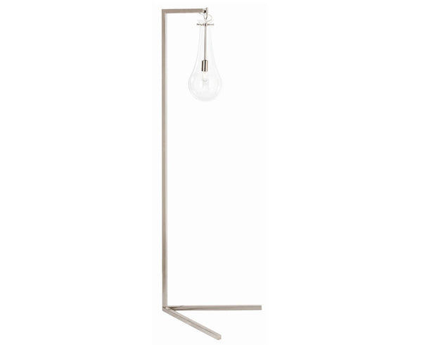 Arteriors Sabine Floor Lamp in Polished Nickel