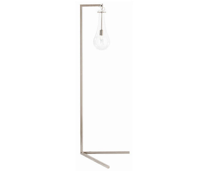 Sabine Floor Lamp - Polished Nickel & Glass