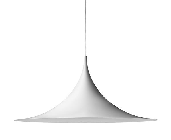 Semi Pendant Light in Matte White