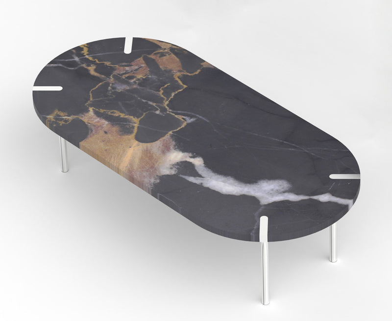 Sereno Marble Coffee Table - St Laurent Brown