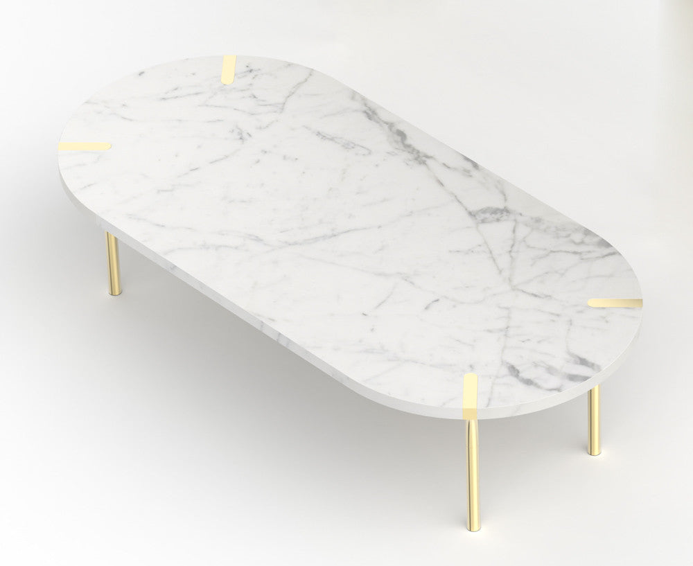 Sereno marble coffee table by anna by rablabs dshop sereno marble coffee table carrara geotapseo Choice Image
