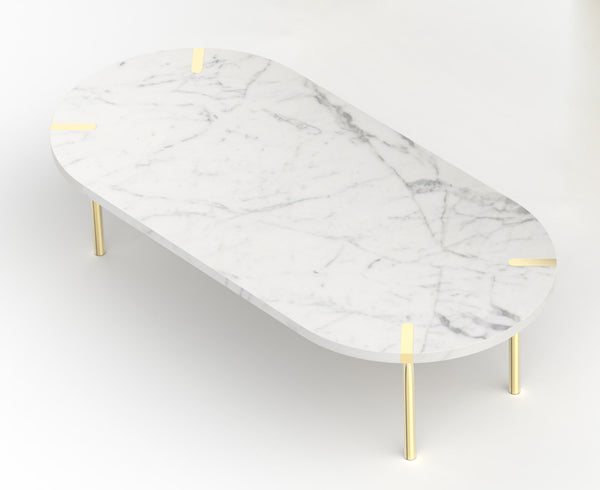 Sereno Marble Coffee Table - Carrara