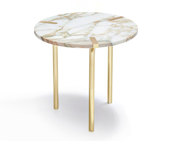 Sereno Marble End Table in Calacutta & Gold | DSHOP