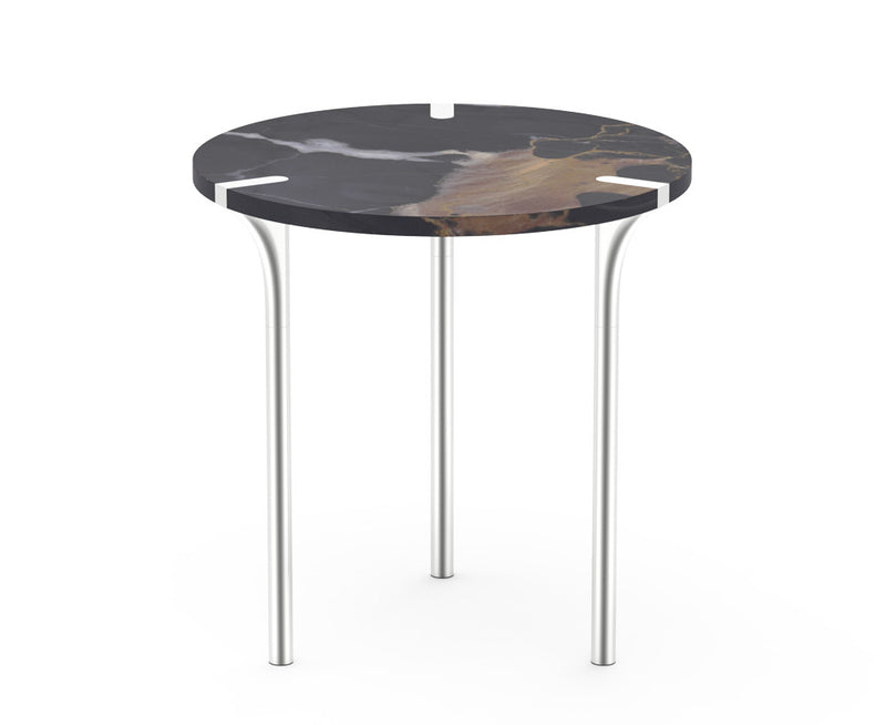 Sereno Marble End Table - St Laurent Brown