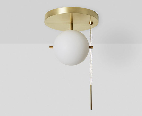 Workstead Signal Flush Mount in Brass | DSHOP
