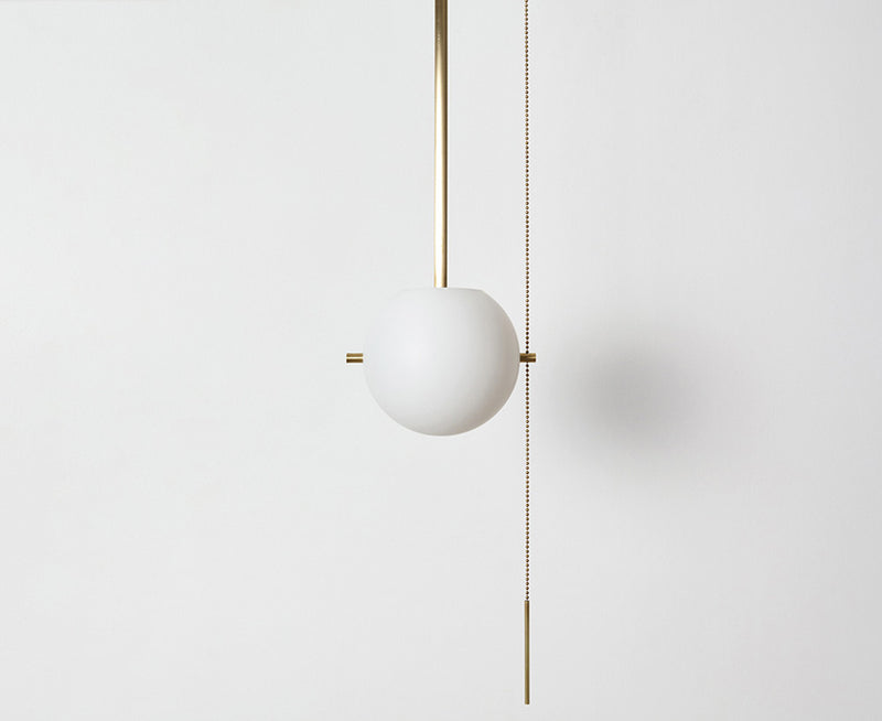 Workstead Signal Pendant Light in Hewn Brass | DSHOP