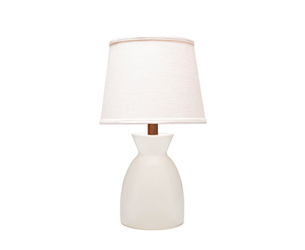Sullivan Table Lamp - White + Walnut