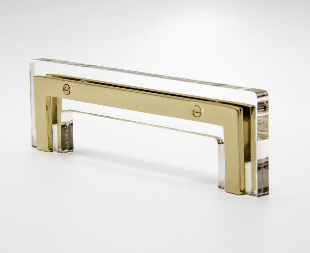 Transparency-01 Handle in Acrylic & Brass | DSHOP