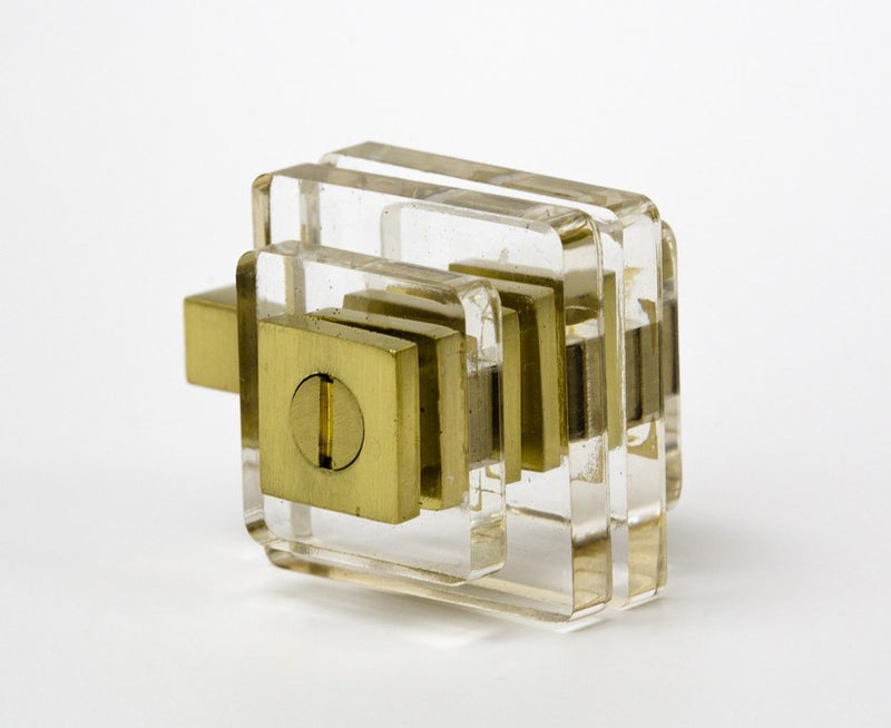 Transparency-02 Knob in Acrylic & Brass | DSHOP