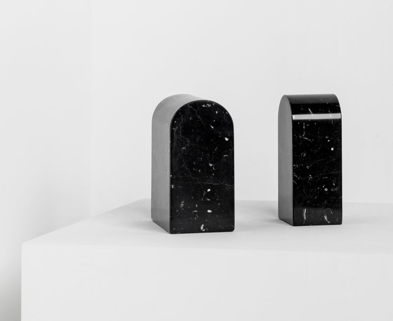 Marquina Marble Triumph Bookends | DSHOP
