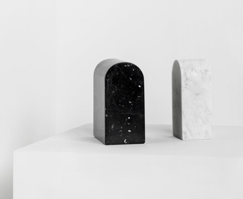 Marble Triumph Bookends by Aparentment | DSHOP