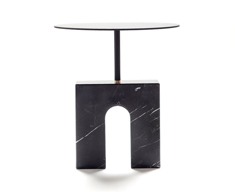 Marquina Marble Triumph Accent Table | DSHOP