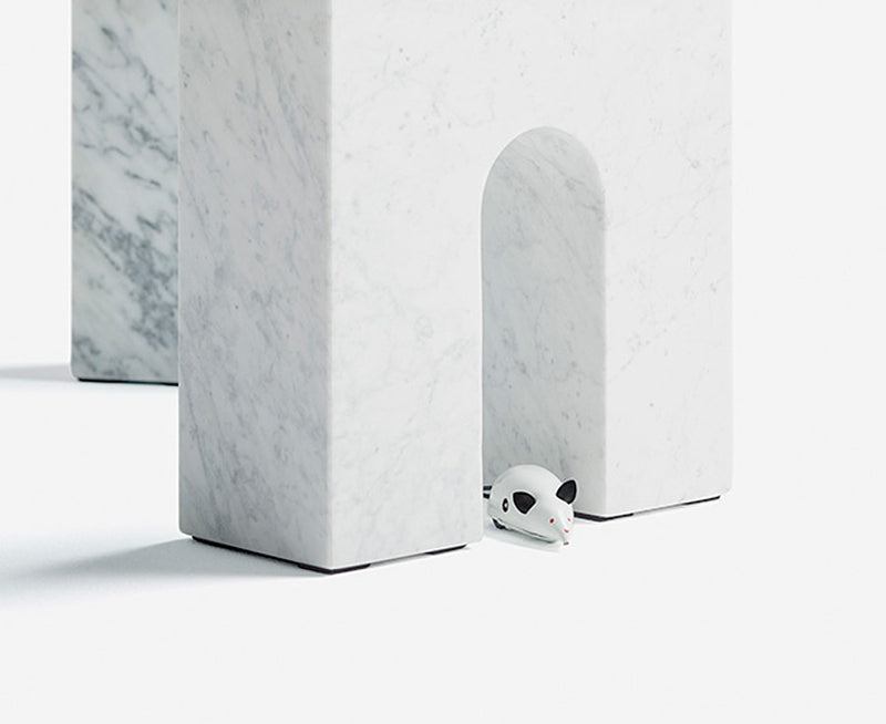 Triumph-T Coffee Table in Carrara Marble | DSHOP