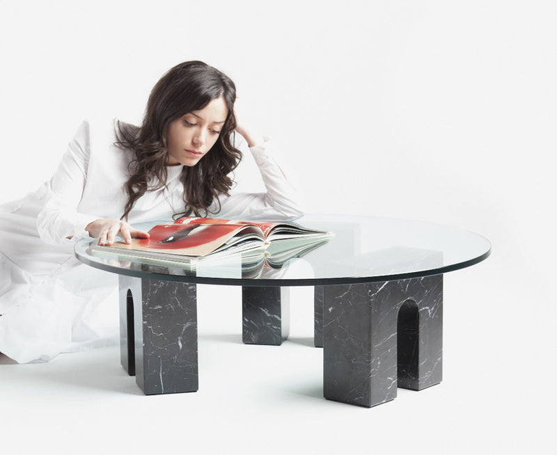 Aparentment Triumph-T Coffee Table in Black Marble | DSHOP
