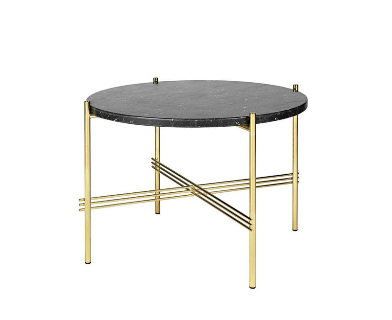 TS Lounge Table Medium - Black Marble & Brass | DSHOP