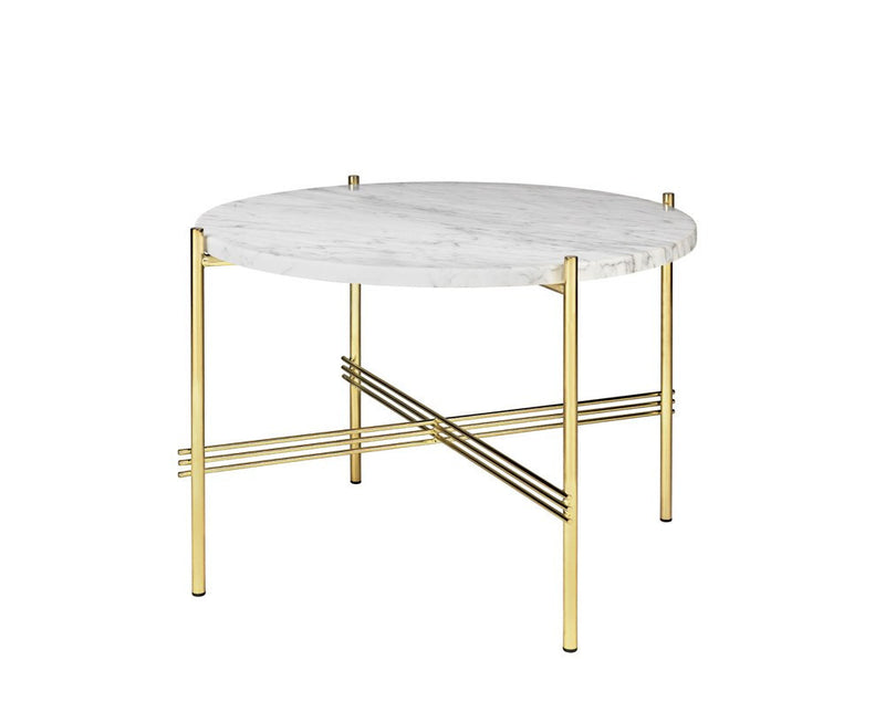 TS Lounge Table Medium - Carrara Marble & Brass | DSHOP