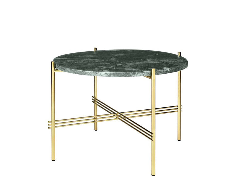 TS Lounge Table Medium - Green Marble & Brass | DSHOP