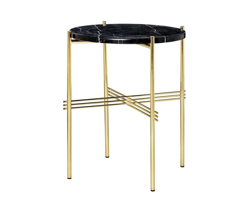 TS Lounge Table Small - Black Marble & Brass | DSHOP