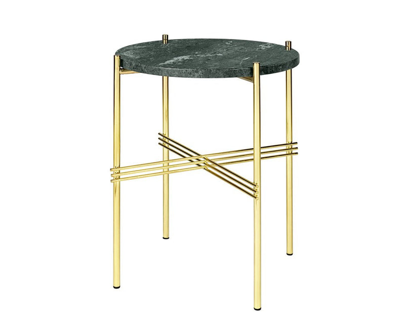 TS Lounge Table Small - Green Marble & Brass | DSHOP