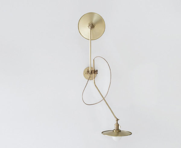 Industrial Bent Wall Lamp - Brass | DSHOP