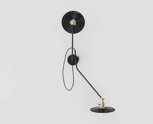 Workstead Bent Wall Lamp - Black