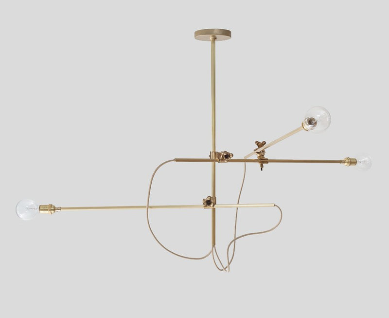 Industrial Brass Chandelier | DSHOP