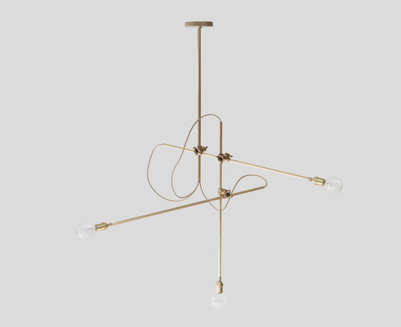 Adjustable Workstead Brass Chandelier | DSHOP