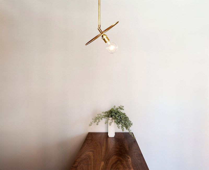 Industrial Brass Pendant Light | DSHOP