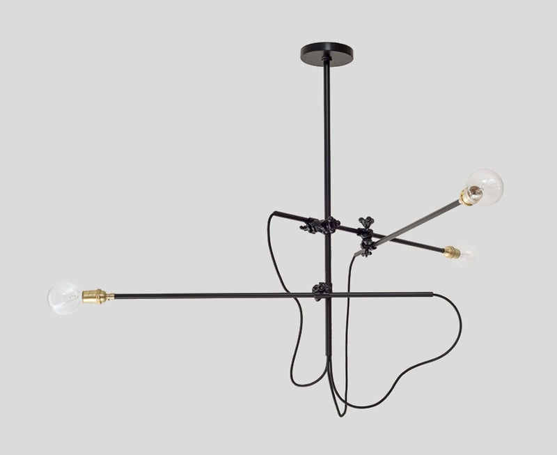 Workstead Industrial Chandelier in Black | DSHOP