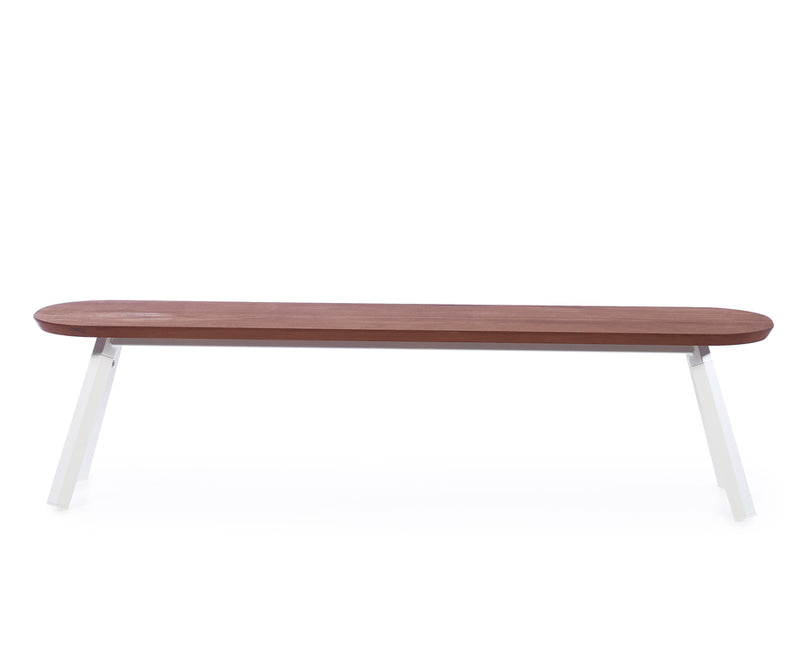 You & Me Wood Bench - 71 Inch - White | DSHOP