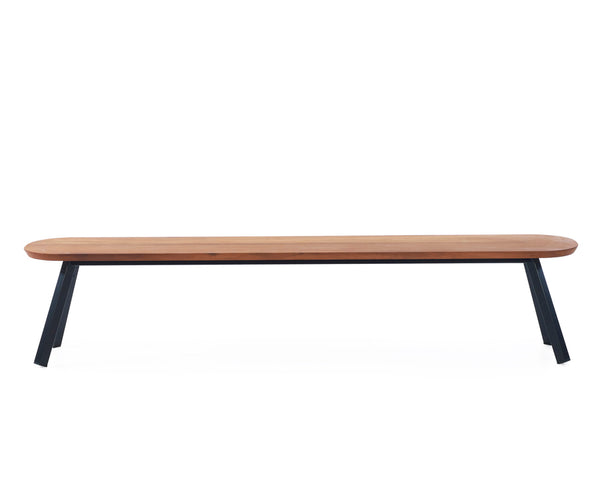 You & Me Wood Bench - 87 Inch | DSHOP