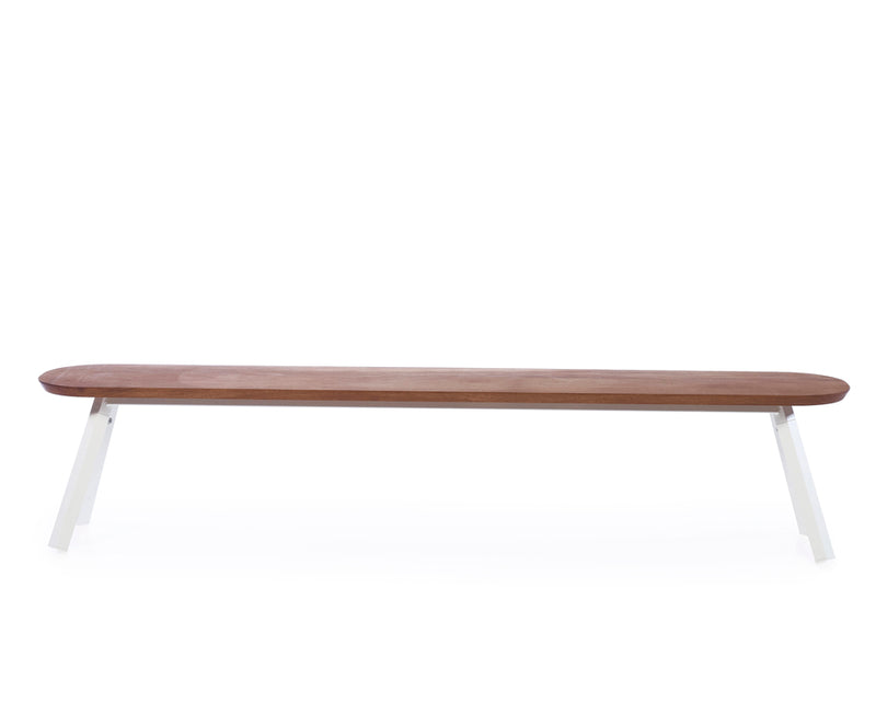 You & Me Wood Bench - 87 Inch - White | DSHOP