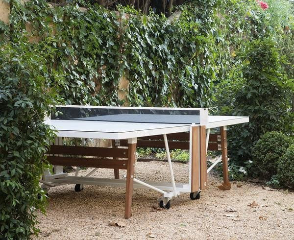 RS Folding Ping Pong Table - White