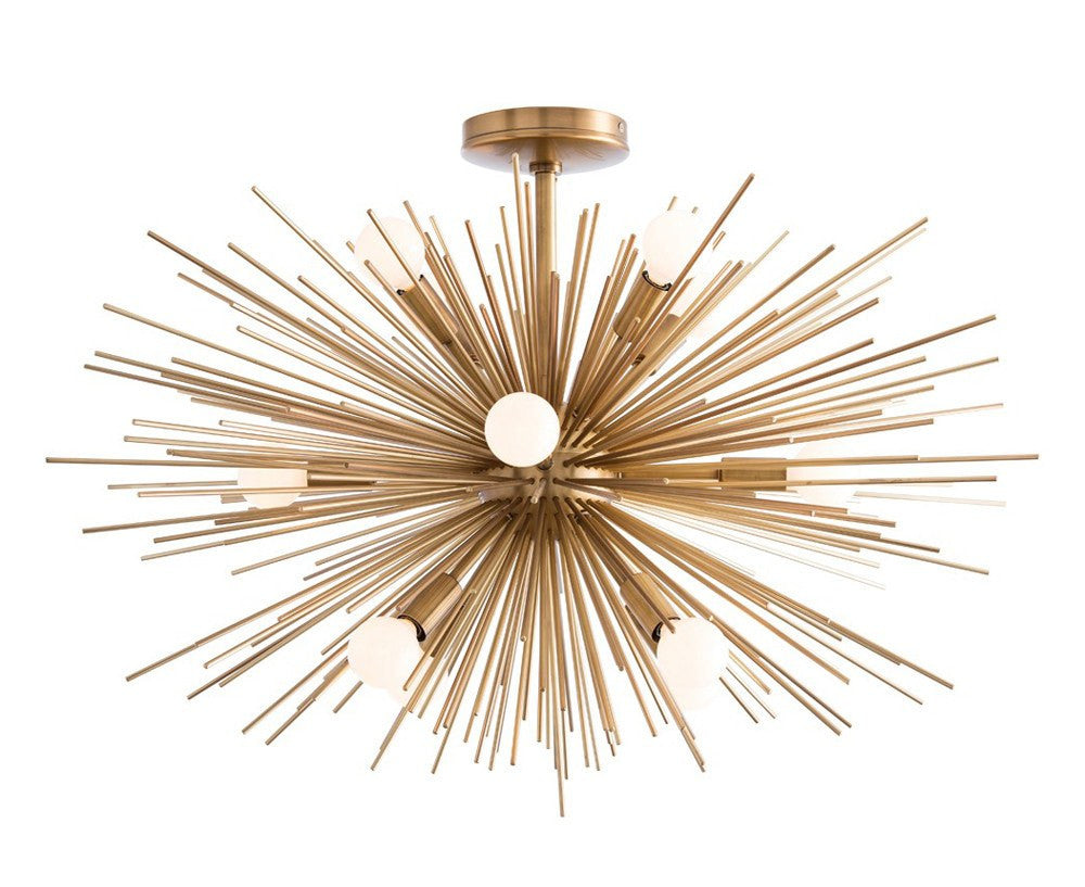 Zanadoo Starburst Chandelier - Fixed - Brass