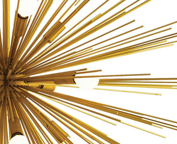 Zanadoo Starburst Chandelier - Large - Brass