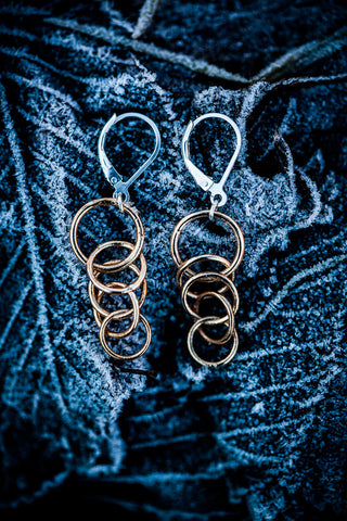 Torii raw bronze earrings