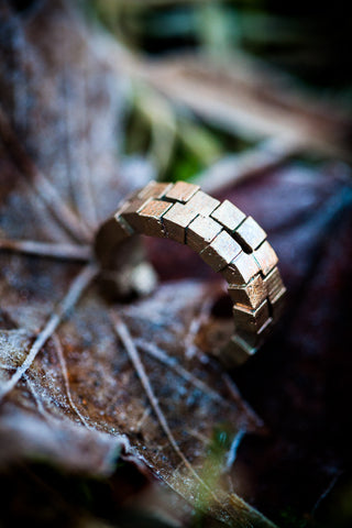 Cubii raw bronze ring 2.2