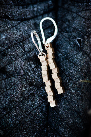 Cubii raw bronze earrings