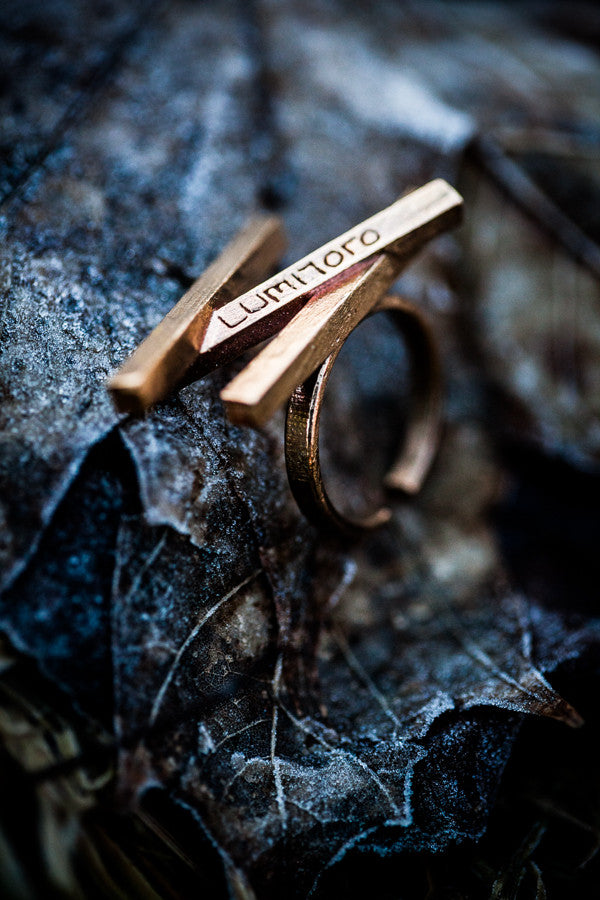 Stickii raw bronze ring III
