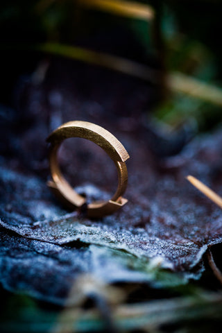 Stickii raw bronze ring II