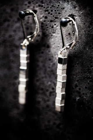 Cubii silver earrings