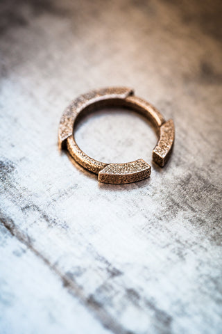 Stickii bronzed steel ring II