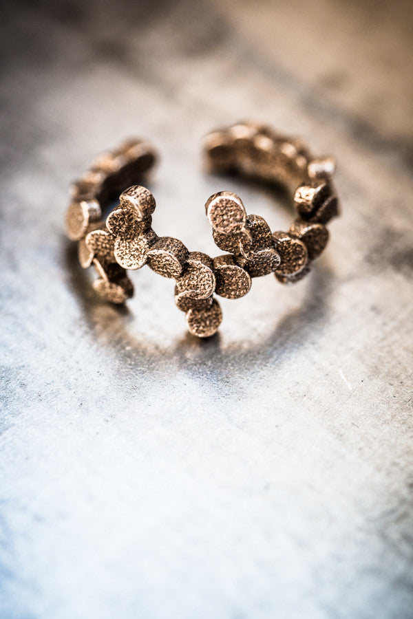 Tubii bronzed steel ring II