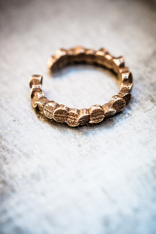 Tubii bronzed steel ring I
