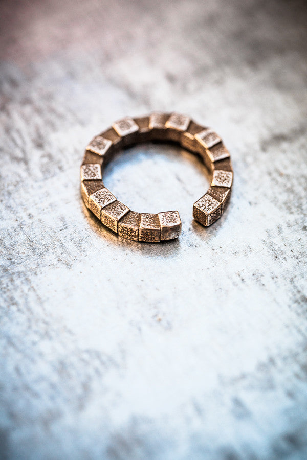 Cubii bronzed steel ring 1.1