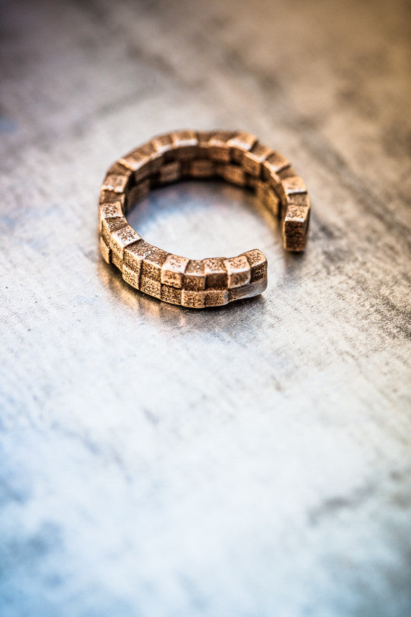 Cubii bronzed steel ring 2.2 MINI