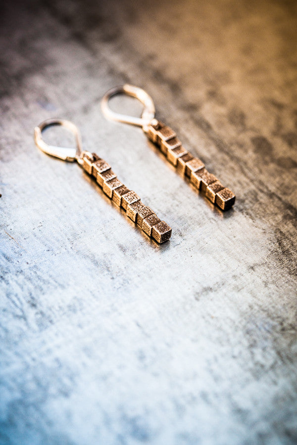 Cubii bronzed steel earrings