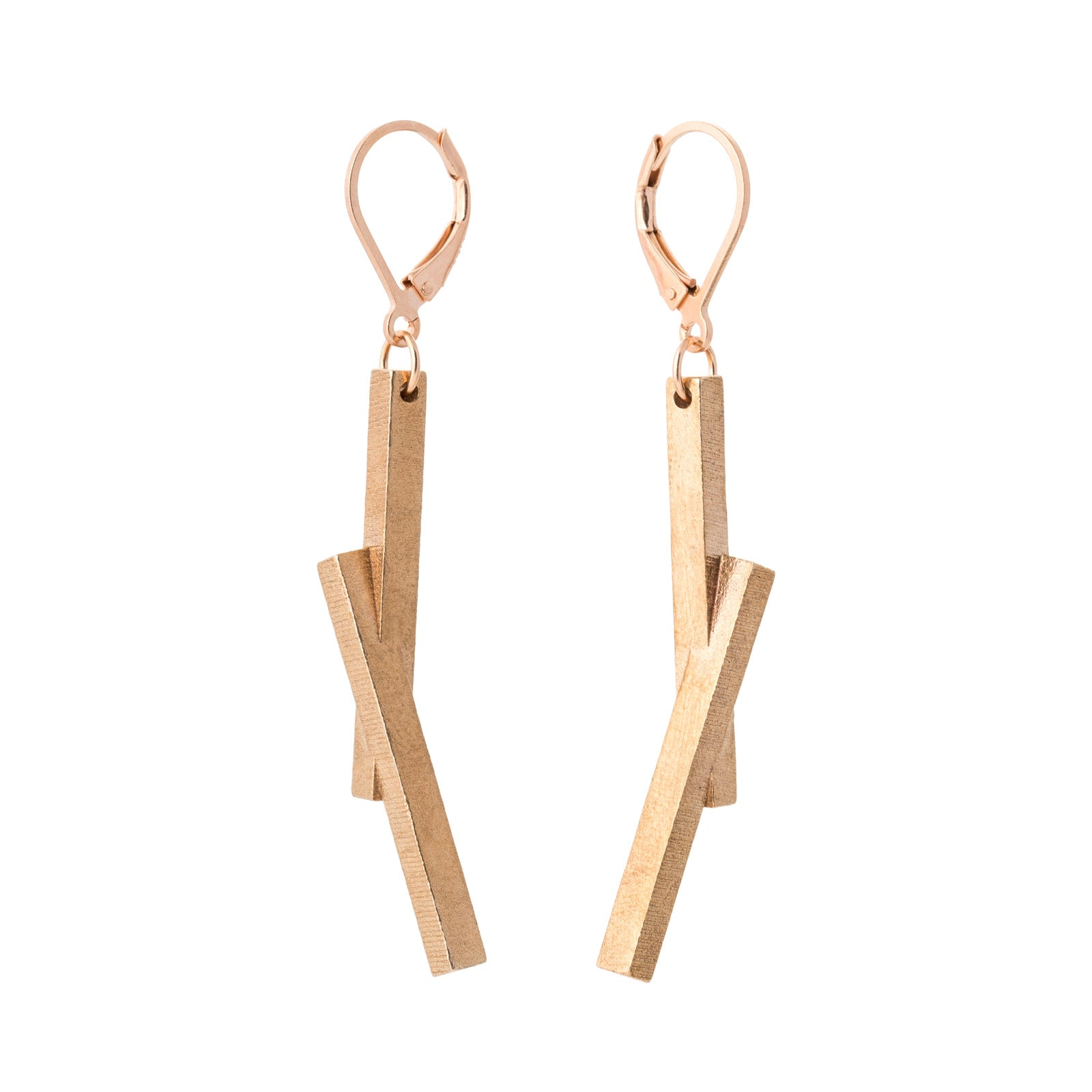 Stickii raw bronze earrings