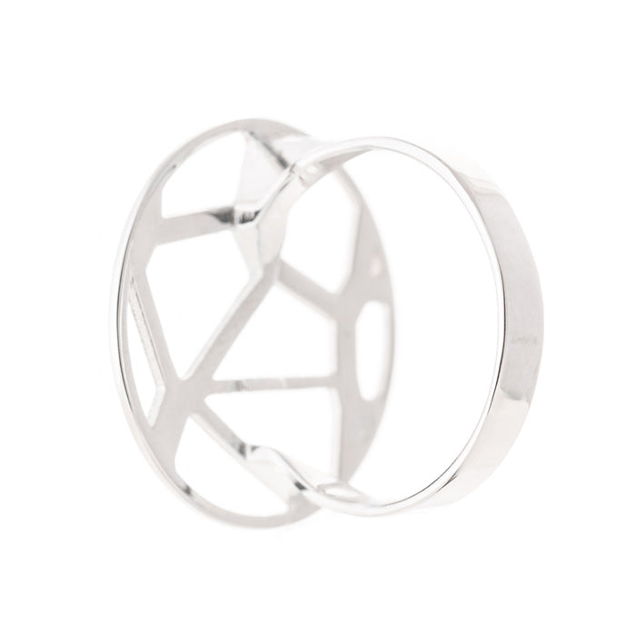 Voronoii silver ring