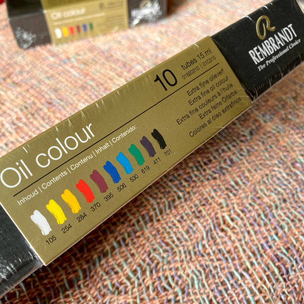 Rembrandt Professional Oil Colour, 10 colours 15ml tube